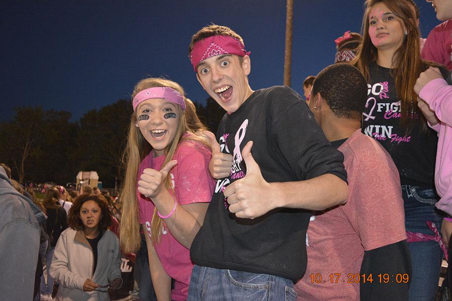 smiling pink bandana