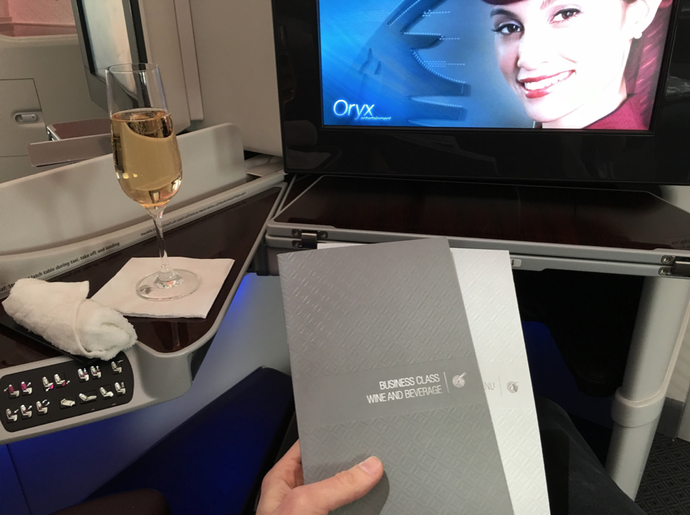 Qatar Business Class Flight